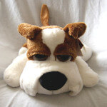 Russ Berrie Peepers - Light Brown and White Dog