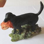 Sherratt and Simpson Black Labrador with Grouse